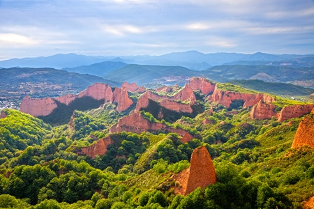 Las Medulas, antique gold mine in the province of Leon, Spain