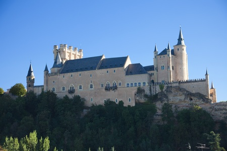 segovia: Segovia Alcazar panoramic. Spain