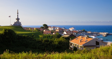 Panoramic of the ville of Comillas in the province of Santander, Spain Stock Photo