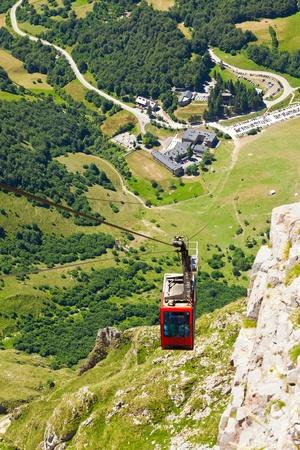 santander: Clable car in Fuente De,  Picos de Europa, Cantabria, Spain