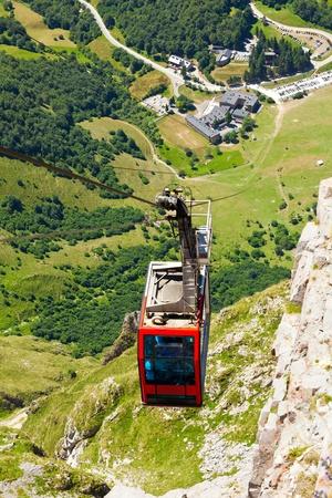 picos: Clable car of Fuente De, Picos de Europa, Cantabria, Spain