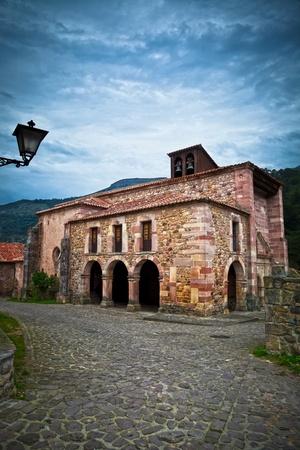 santander: Church of Carmona village, Cantabria, Spain Stock Photo