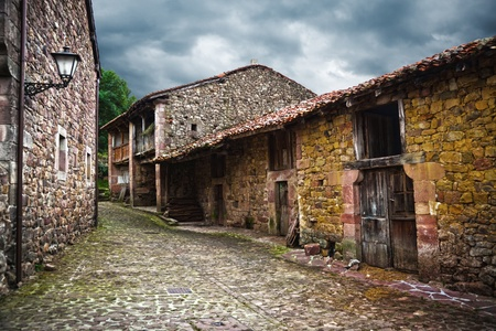cantabria: Typical architecture from a village in Cantabria, Spain Stock Photo