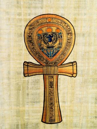 horus: Papiro egipcio que representa el Ankh o llave de la vida