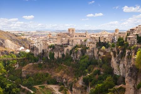 Hanging houses of Cuenca panoramic  Spain