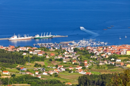 galicia: Fishing town and harbor in Arosa stuary, in the province of A Coruna, Galicia, Spain