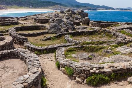 galicia: Celtic castro of Barona in the province of La Coruna, Spain