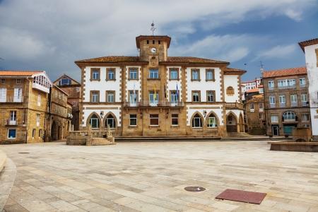 galicia: Town hall of Muros, a fishing village in the province of La Coruna, Spain
