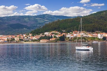 galicia: Fishing village in the province of La Coruna, Galicia, Spain Stock Photo