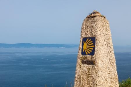 0 km, last end of The Camino de Santiago, in the cape of Finisterre, province of La Coruna, Spain