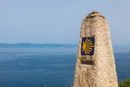 0 km, last end of The Camino de Santiago, in the cape of Finisterre, province of La Coruna, Spain