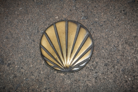 Shell symbol of the Camino de Santiago   Santiago de Compostela, Spain   Stock Photo - 17534017