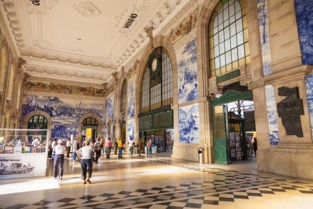 estacion de tren: Estaci�n de tren sala de Oporto, Portugal