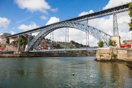 Dom Luis I bridge over Douro river in Porto, Portugal photo