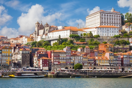 douro: Panoramic of old Porto from Douro River, Portugal