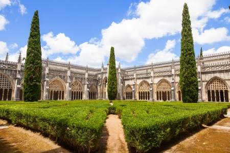 Royal cloister of Batalha monastery, Portugal  UNESCO World heritage