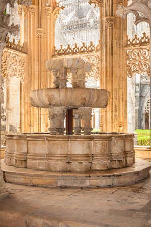 Lavatory in the Royal cloister of Batalha monastery, Portugal  UNESCO World heritage