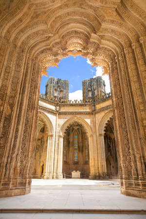 Unfinished Chapels in Batalha monastery, Portugal  UNESCO World heritage