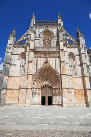 Main facade of Batalha monastery, Portugal  UNESCO World heritage photo