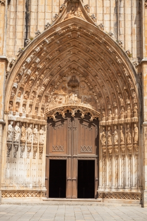 Main portal of Batalha monastery, Portugal  UNESCO World heritage photo