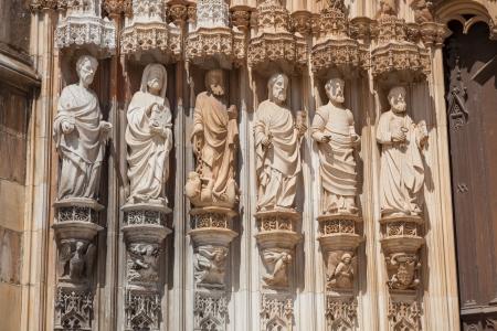 apostles: Apostles statues in Batalha monastery, Portugal  UNESCO World heritage