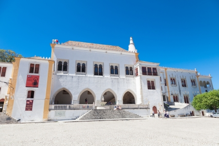 patrimony: Sintra, Portugal - July 6, 2012: The National Museum of Sintra, Portugal Editorial
