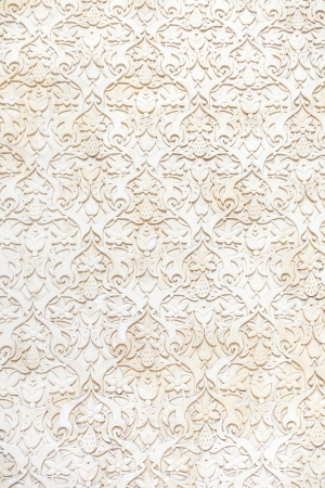 parget: Seamless decorative plasterwork in a wall Stock Photo