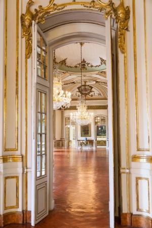 ケルースの国立宮殿、シントラ、リスボンの地区の自治体のシントラ、ポルトガル - 2012 年 7 月 4 日: 高級インテリア ポルトガル
