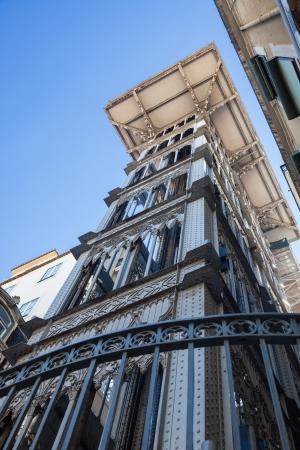 chiado: Santa Justa Lift  Elevador de Santa Justa  also called Carmo Lift in Lisboa, Portugal