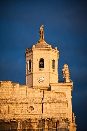 Valladolid Cathedral at sunset, Spain