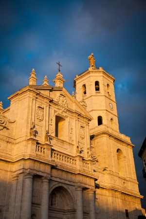 Valladolid Cathedral at sunset, Spain photo