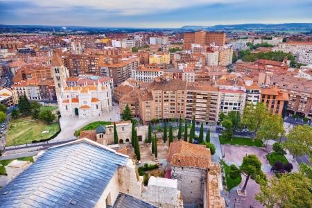 Aerial view of Valladolid skyline, Spain