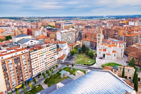 Aerial view of Valladolid skyline, Spain