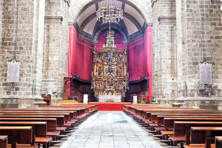 Main altar of Valladolid Cathedral in Spain