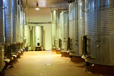 fermenting: Modern winery fermenting facility Stock Photo