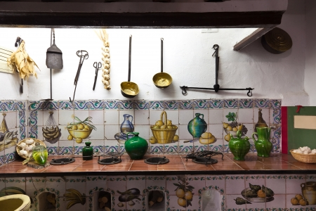 Very old kitchen with ancient utensils Stock Photo - 22948065