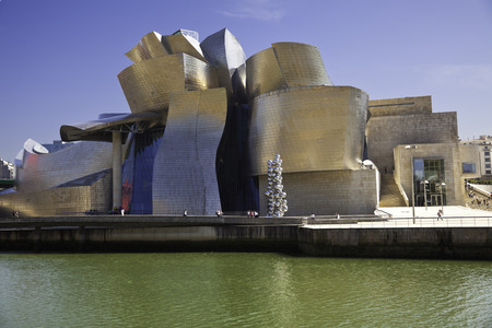 frank gehry: Bilbao, Spain - May 21, 2011  The Guggenheim Museum Bilbao is a museum of modern and contemporary art designed by Canadian-American architect Frank Gehry located in Bilbao, Basque Country, Spain  Prophoto RGB Editorial