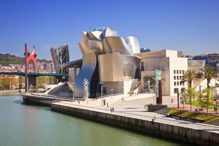 frank gehry: Bilbao, Spain - May 21, 2011  The Guggenheim Museum Bilbao is a museum of modern and contemporary art designed by Canadian-American architect Frank Gehry located in Bilbao, Basque Country, Spain