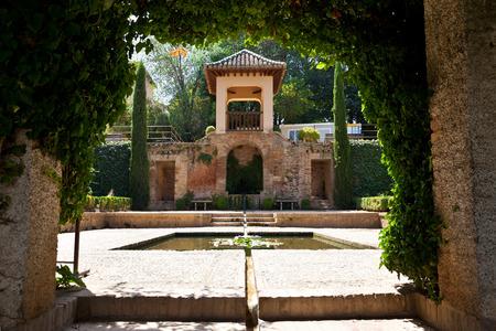 Alhambra de Granada  Pavilion in the gardens of El Partal