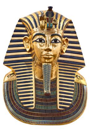 Tutankhamuns funerary mask isolated Editorial