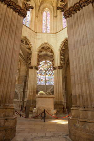 founders: Founders Chapel (Capela do Fundador) of Santa Maria da Vitoria monastery, Batalha, Estremadura, Portugal. This chapel hosts the tomb of Joao I and Philippa of Lancaster Editorial