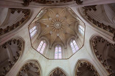 vitoria: Vault of the Founders Chapel (Capela do Fundador) in Santa Maria da Vitoria monastery, Batalha, Estremadura, Portugal