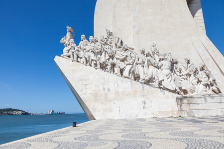 lisboa: Padrao dos Descobrimentos (Monument to the Discoveries), monument in Tagus riverbank. It celebrates the Portuguese who took part in the Age of Discovery, Lisboa, Portugal