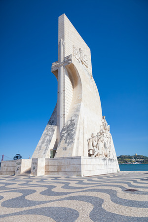 discoveries: Padrao dos Descobrimentos (Monument to the Discoveries), monument in Tagus riverbank. It celebrates the Portuguese who took part in the Age of Discovery, Lisboa, Portugal