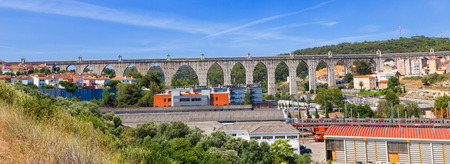 aqueduct: Lisbon aqueduct, Portugal Stock Photo