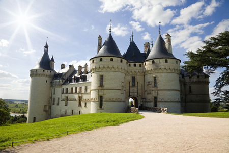 Chaumont Chateau panoramic. France Editorial