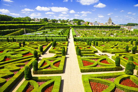 Amazing Gardens From Villandry Chateau, France Stock Photo, Picture ...