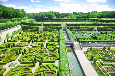 chateau: Amazing gardens from Villandry chateau, France