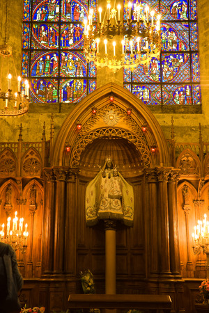chartres: Notre dame du Pillier chapel inside Chartres Cathedral, France Editorial