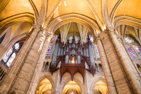 pipe organ: Pipe organ of Chartres Cathedral, France Editorial